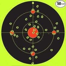 50 Pacote-8 polegada Multi Bullseye tiro adesivos-Splatterburst Alvos de Tiro-armas adesivos tiro adesivos Atirar formação