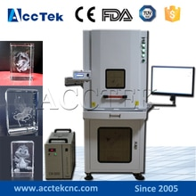 Machine de gravure laser cristal photo AccTek 3W 5W 8W 10W 3d