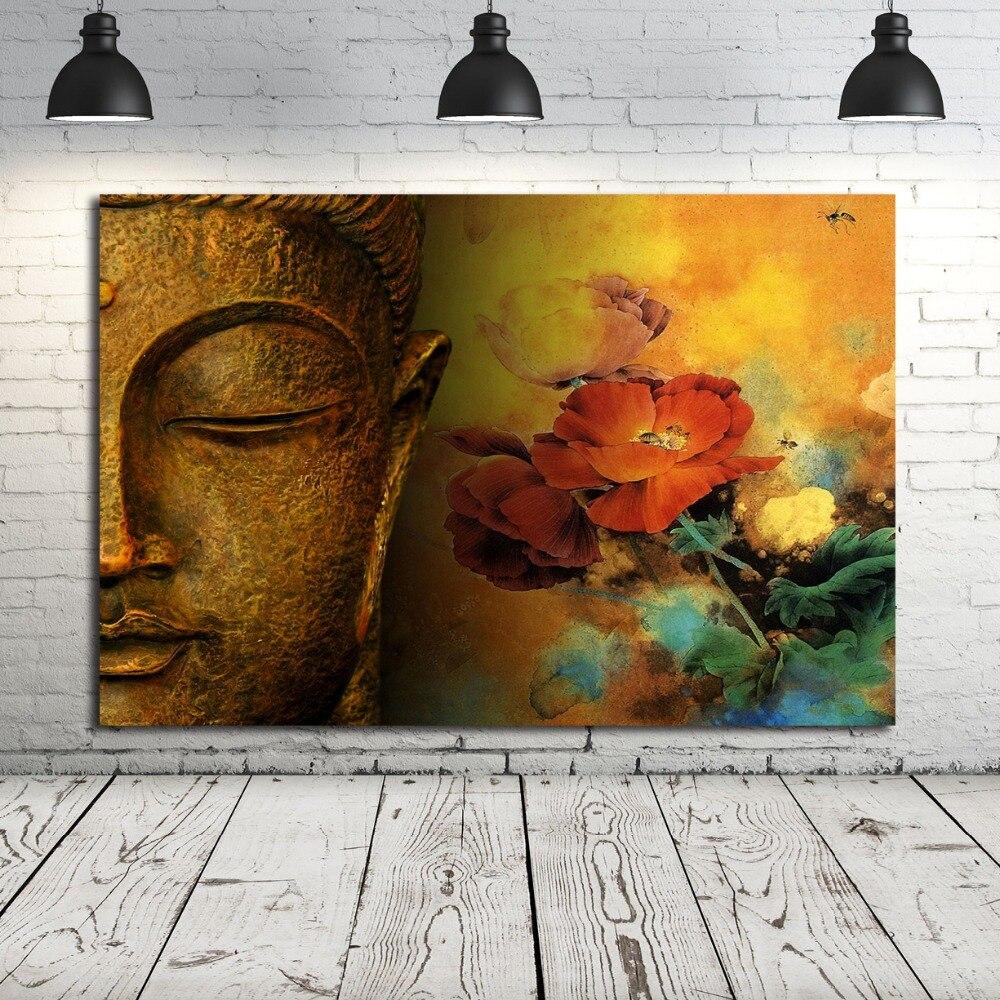 Pintura De Buda Estilo nórdico cuadro sobre lienzo para pared cartel impresión abstracta cuadro decorativo para sala De estar decoración del hogar