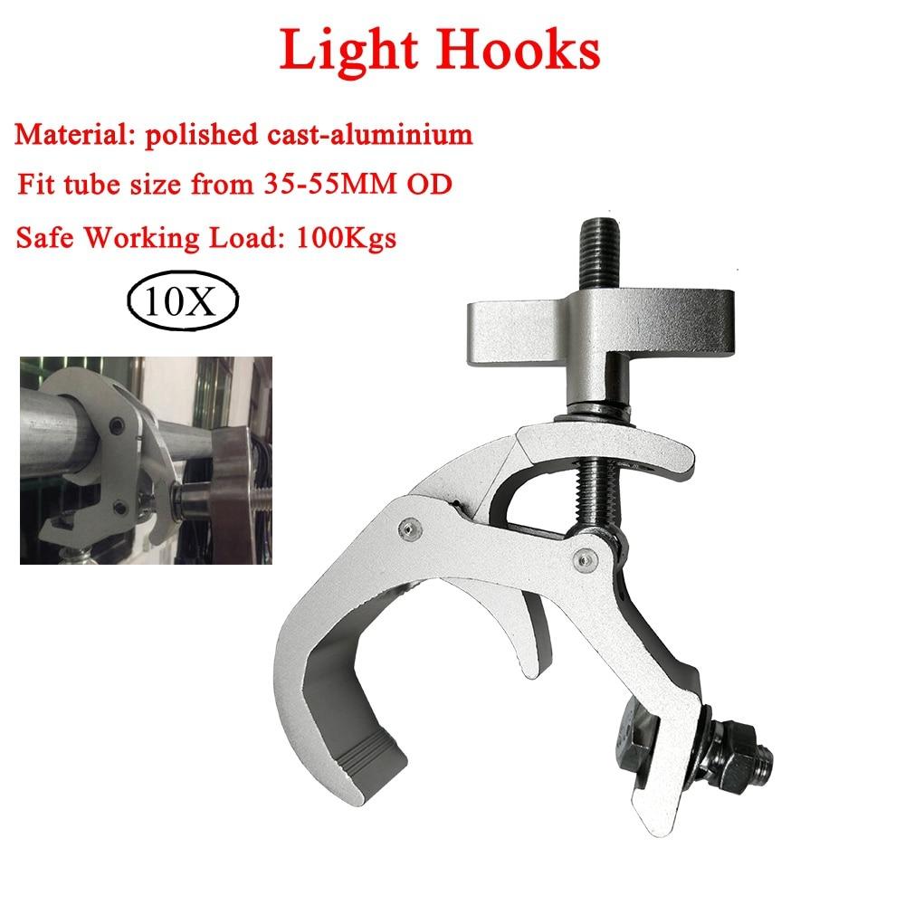 10 قطعة/الوحدة عالية الجودة الألومنيوم أضواء هوك LED الاسمية السنانير المهنة المرحلة معدات LED المرحلة جمالون خفيفة Dj نادي شنقا هوك