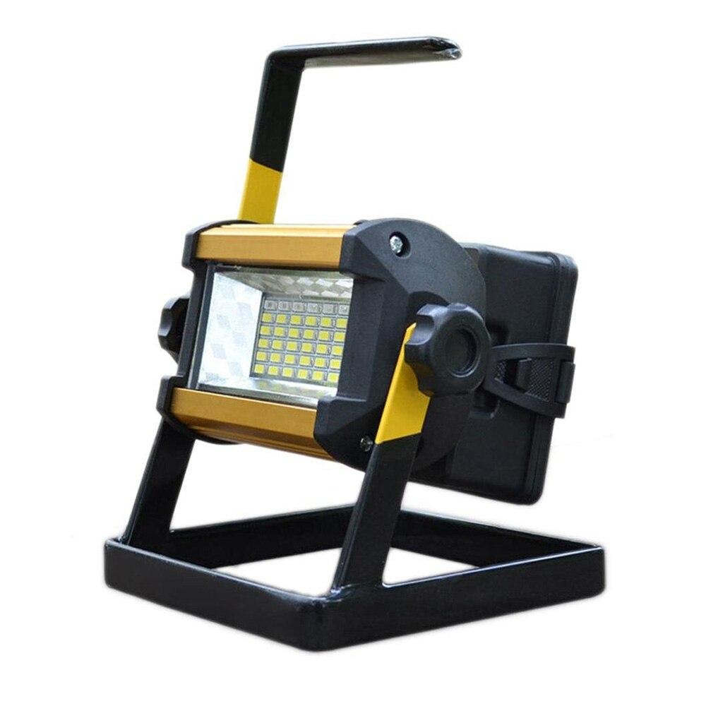 Waterproof Outdoor LED Floodlight 36 LEDs 50W Spotlight AC 110V 220V Garden Lamp Portable Searchlight Flash Warning Light