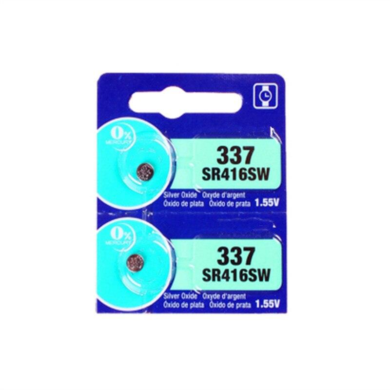2 PCS New LONG LASTING 337 SR416SW 623 D337 V337 SP337 assista Botão de Célula tipo Moeda Bateria MADE IN JAPAN 100% Originais marca