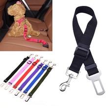Nylon Dog Seat Belt Collar Clip Pet Car Seatbelt Harness Collar Leash Travel Clip For Medium Small dogs Ajustable Length