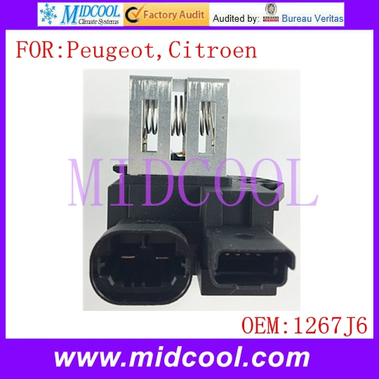Nuevo Motor de soplador, Resistor de ventilador, uso OE NO. 1267J6 / 1267.J6 para Peugeot 207 208 301 407 508 1007 2008 Citroen C2 C3 DS3