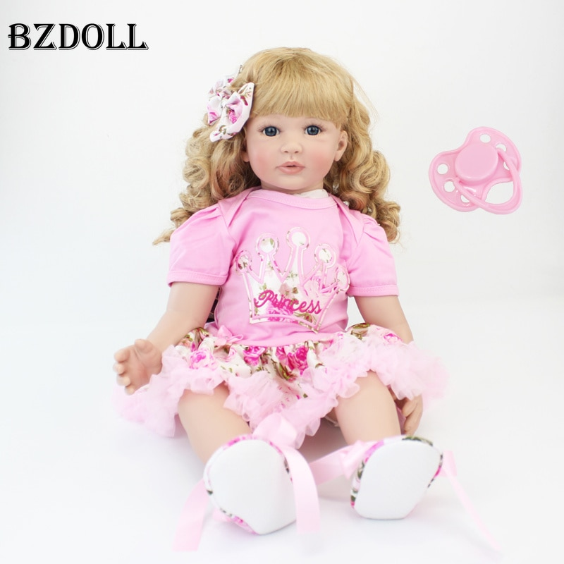 Muñecas de juguete Reborn de silicona de 60cm, muñecas de vinilo de 24 pulgadas para bebés y princesas, regalo de cumpleaños vivo, juguete para jugar a las casitas, muñecas para niñas