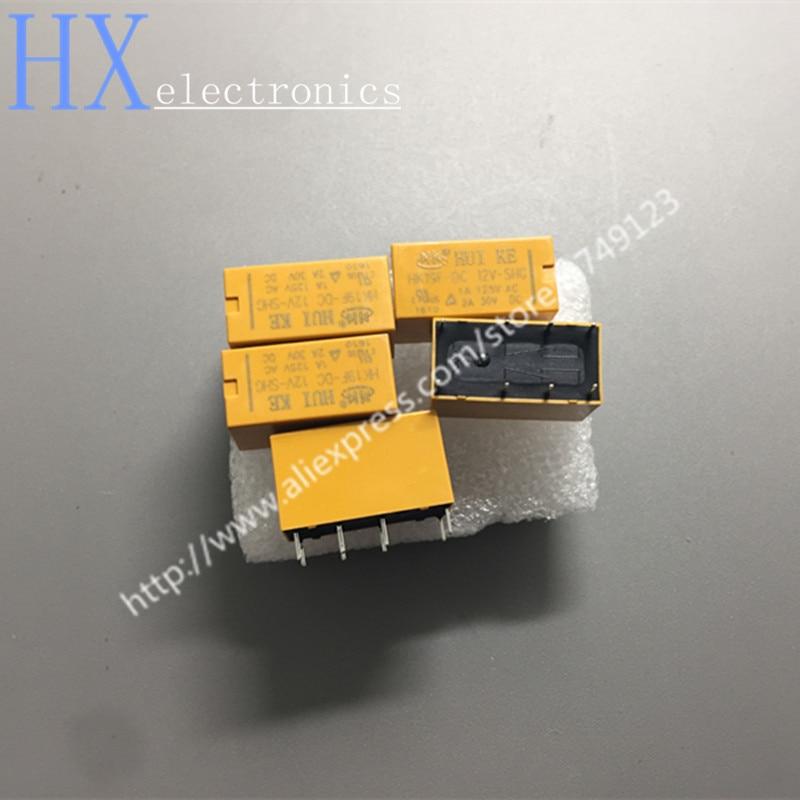 Frete grátis 5 PCS HK19F-DC12V-SHG 8 pés 1A 125VAC/30VDC relé DPDT