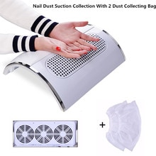 Nagel Fan Art Salon Saug Staub Collector Maschine Staubsauger Mit 3 Fans + 2 Taschen Acryl UV Gel Maschine nagel Staub Kollektor
