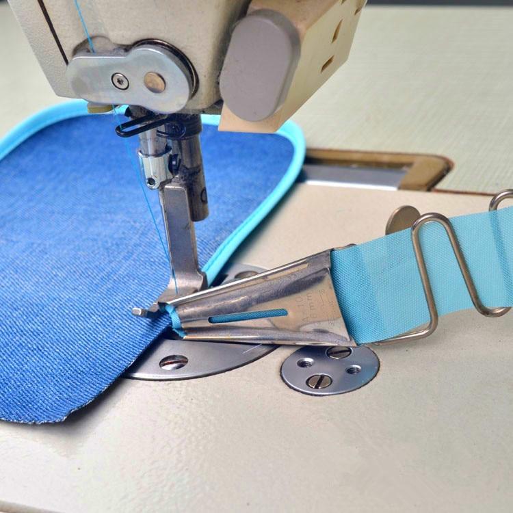 Carpeta de overlock tamaño de la cinta 20 MM-50 MM A10 dobladillo de ángulo recto aglutinante para máquina de puntada de bloqueo de borde de la curva