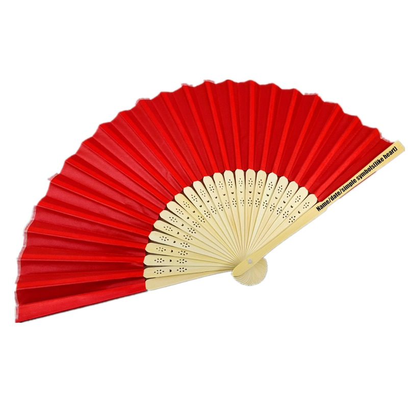 Promotional gifts customized logo silk hand fan