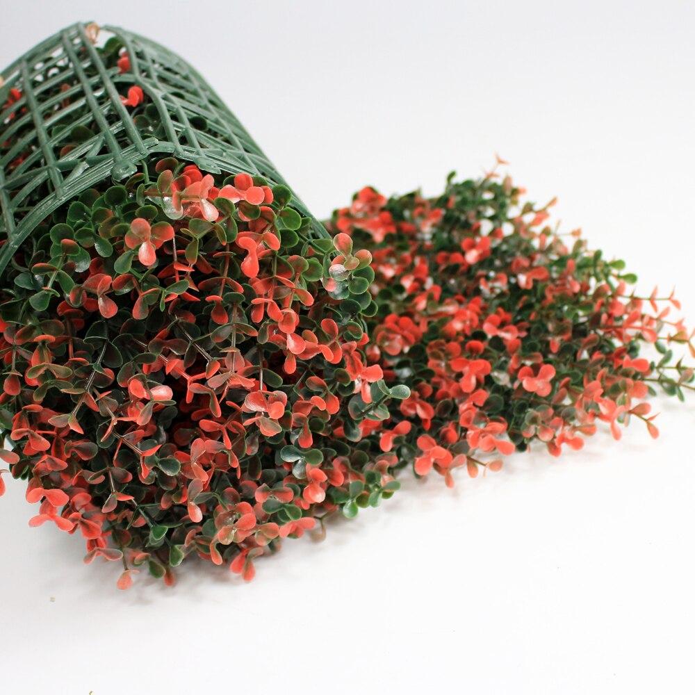 Seto artificial de boj cerca de privacidad plantas topiarias 10X10 pulgadas paneles de revestimiento de paredes jardín balcón patio Decoración