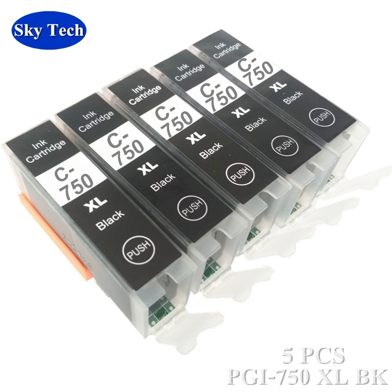 Compatible ink Cartridge For PGI750 CLI751 , PGI-750 CLI-751 For Canon ip7270 MG5470 MG6470 MG5570 IX6770 MG6670 MG7570 IX6870