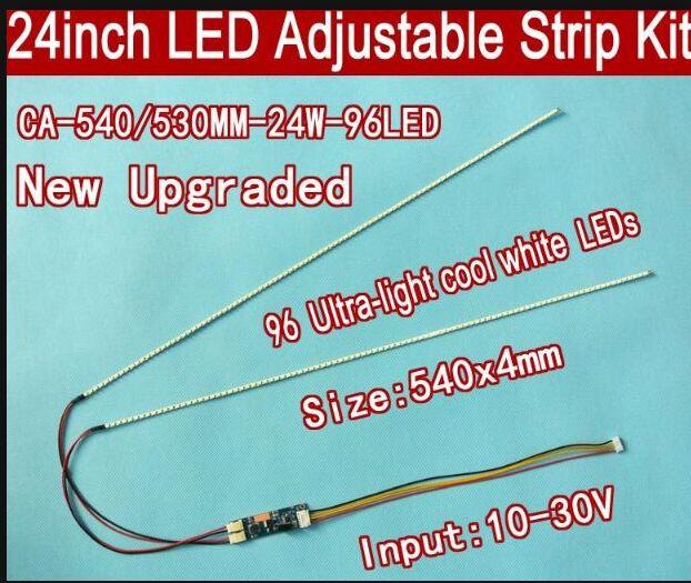 Светодиодная лента с регулируемой яркостью 24 дюйма 540 мм, 5 шт. в комплекте, обновленная ЖК-панель CCFL 24 дюйма для светодиодной подсветки