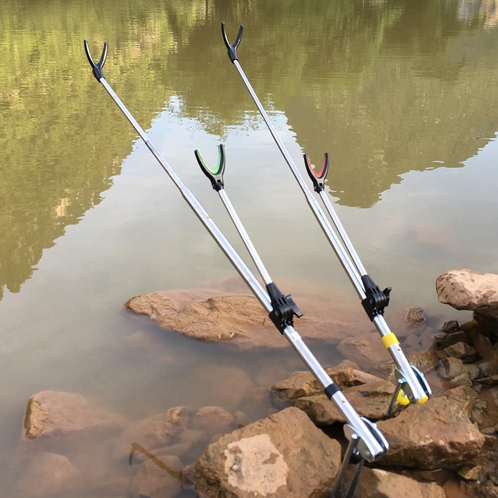 Fish Rod Holder Stand Adjustable Fishing Rods 1.5M 1.7M 2.1M 2.4M Telescoping Fishing Rod Bracket