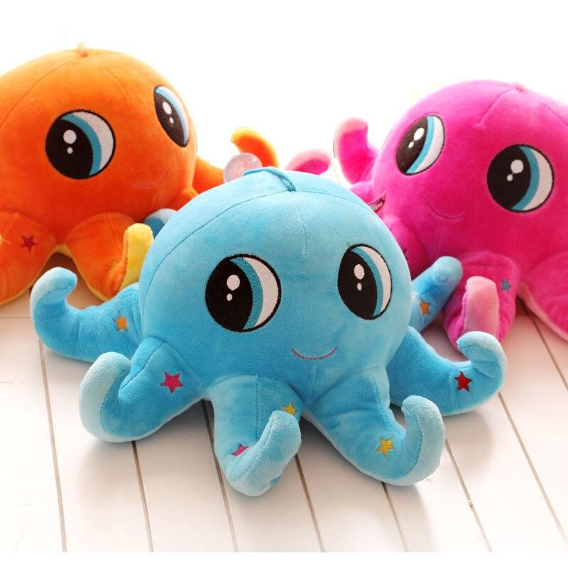 Candice guo! Super q brinquedo de pelúcia cor dos desenhos animados estrela grandes olhos polvo recheado boneca almofada presente aniversário criativo 1pc
