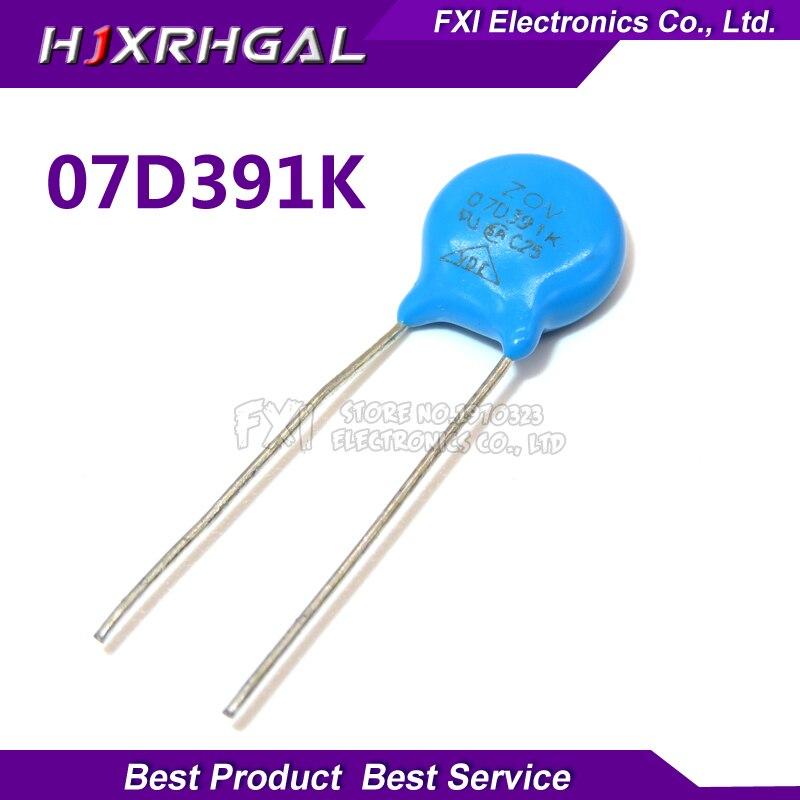 10PCS 07D391K Piezoresistor 7D391K 390V Varistor Resistor