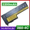 Batterie d'ordinateur portable 2200mAh 14.8V pour IBM ThinkPad X60 X60s X61 X61s 40Y7001 92P1168 93P5027 42T4630 92P1170 93P5028 92P1168 42T4505