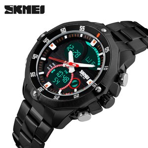 SKMEI Luxury Brand Men Military Sports Watches Men's Quartz LED Digital Hour Clock Male Full Steel Wrist Watch Relogio Masculino