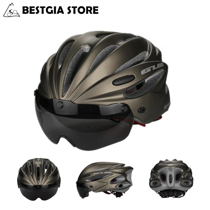 GUB-Casco de Ciclismo de alta densidad EPS, con gafas, para deportes de...