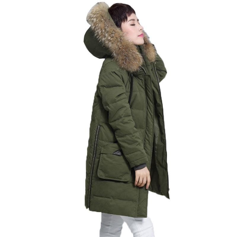 Женская длинная куртка с капюшоном, зимняя теплая парка из хлопка, есть большие размеры, Украинская Мода, модель WZ119, 2017