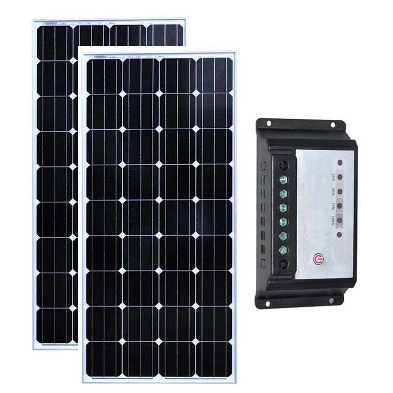 ソーラーセット Panneau Solaire 300 ワット Zonnepaneel 12 ボルト 150 ワット 2 個ソーラー充電コントローラ 12 v/24 v 20A キャラバンキャンピングカー