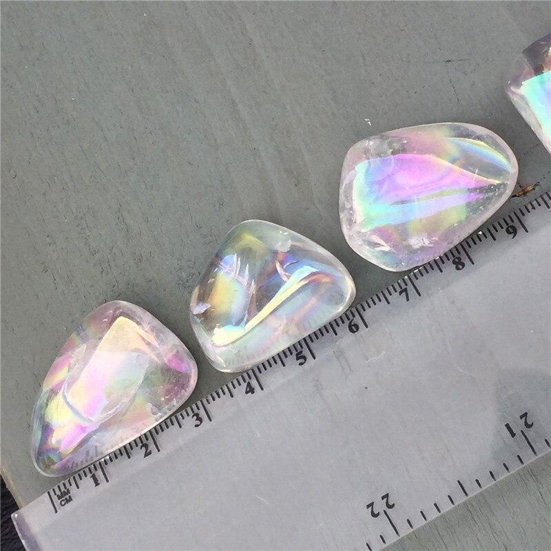 5 шт., натуральный прозрачный кварцевый кристалл, белые камни с аурой