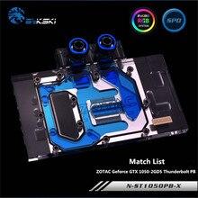 Bykski couverture complète GPU bloc deau pour ZOTAC Geforce GTX 1050-2GD5 Thunderbolt PB carte graphique N-ST1050PB-X