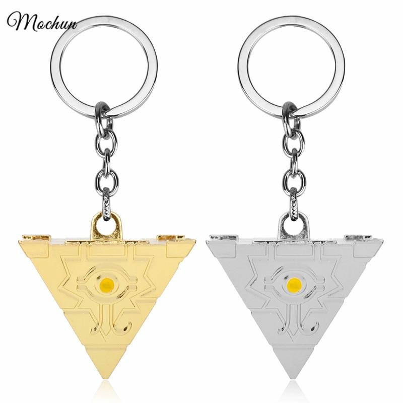 MQCHUN 3D Yu-Gi-Oh Keychain Anime Yugioh Millenium Key Chains Toy Yu Gi Oh Cosplay Pyramid Egyptian Eye Of Horus Key Ring Holder