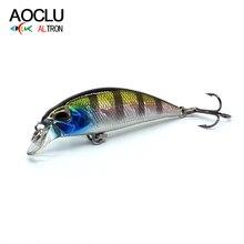 AOCLU wobblers Jerkbait 6 renkler 4.5cm 4.0g sert yem küçük Minnow sahte balık yemleri bas taze tuzlu su olta takımı batan lure