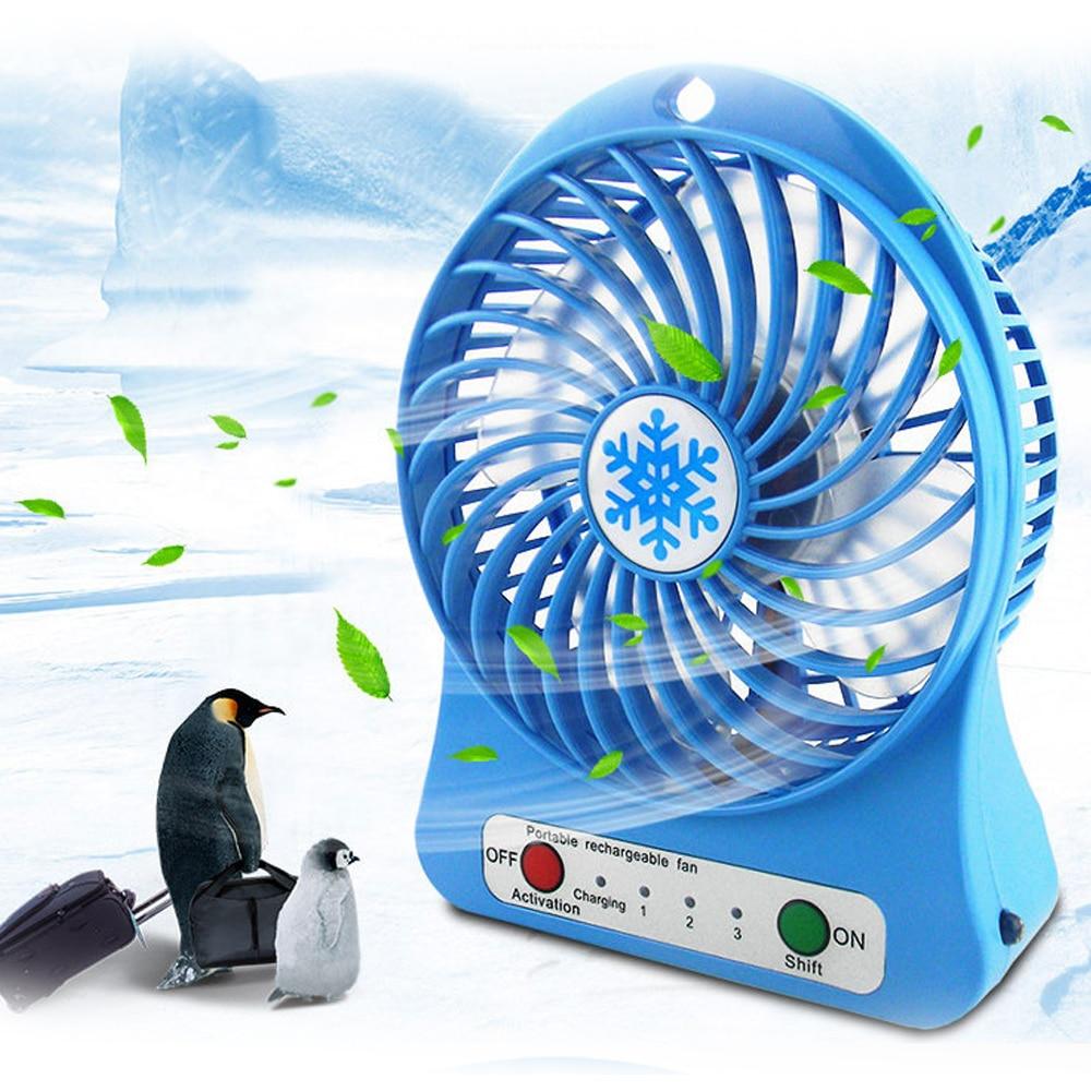 Mini ventilador portátil ajustable, 3 velocidades, recargable por USB, para el hogar, la Oficina, ventilador de refrigerador de escritorio, Enfriador de aire de verano 1 unidad