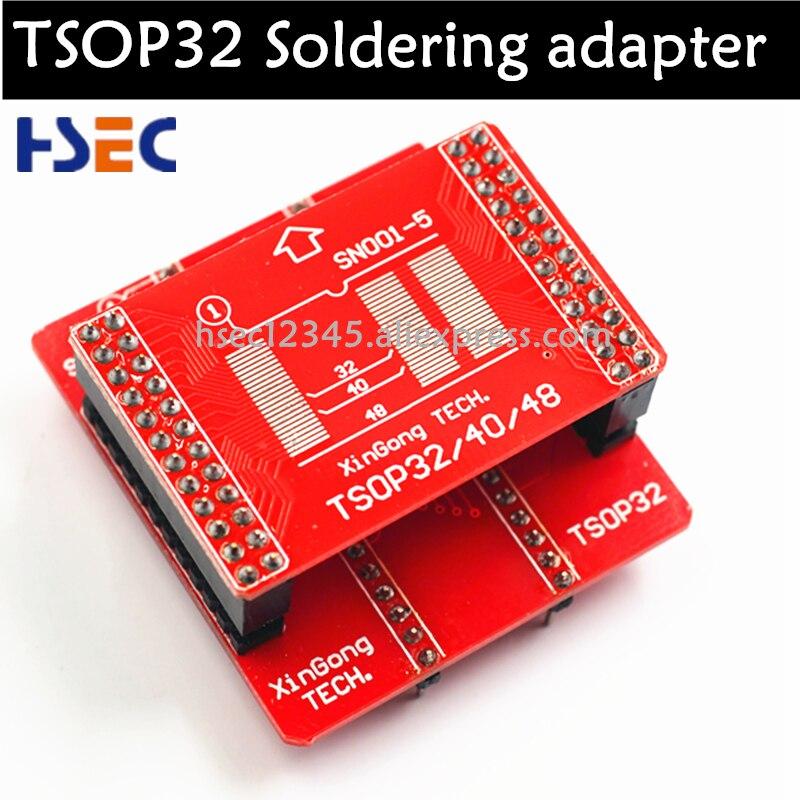 TSOP32 адаптер для пайки + TSOP32 TSOP40 TSOP48 адаптер для minipro TL866CS/A Xgecu TL866ii plus tl866 USB Универсальный программист