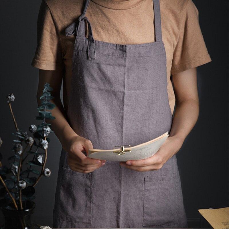Vintage Lange Schort Koken Bakken Crafting Werkkleding Cafe Barista Restaurant Bistro Waitstaff Bakar Gebak Culinaire Uniform B15