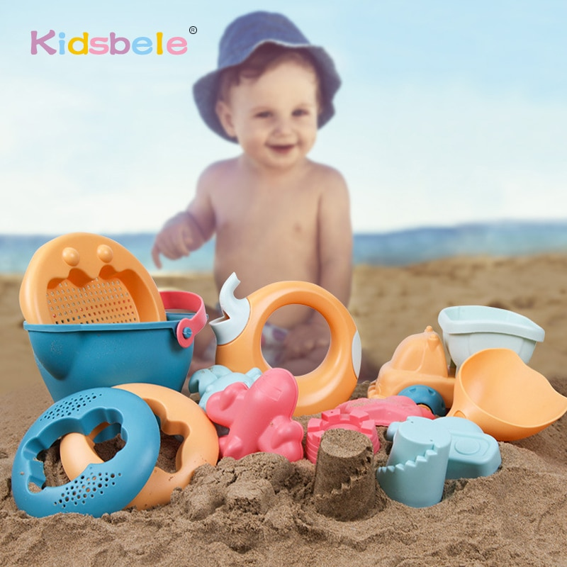 Soft Plastic Beach Toys Shovels Sandbox Buckets Set Summer Water Toys For Sand Kids Beach Toys Animals Molds High Quality 2019
