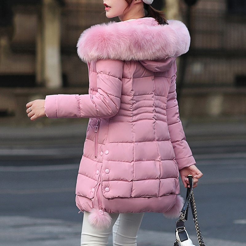 Faux Fur Parkas Women Down Jacket New 2020 Winter Jacket Women Thick Snow Wear Winter Coat Lady Clothing Female Jackets Parkas