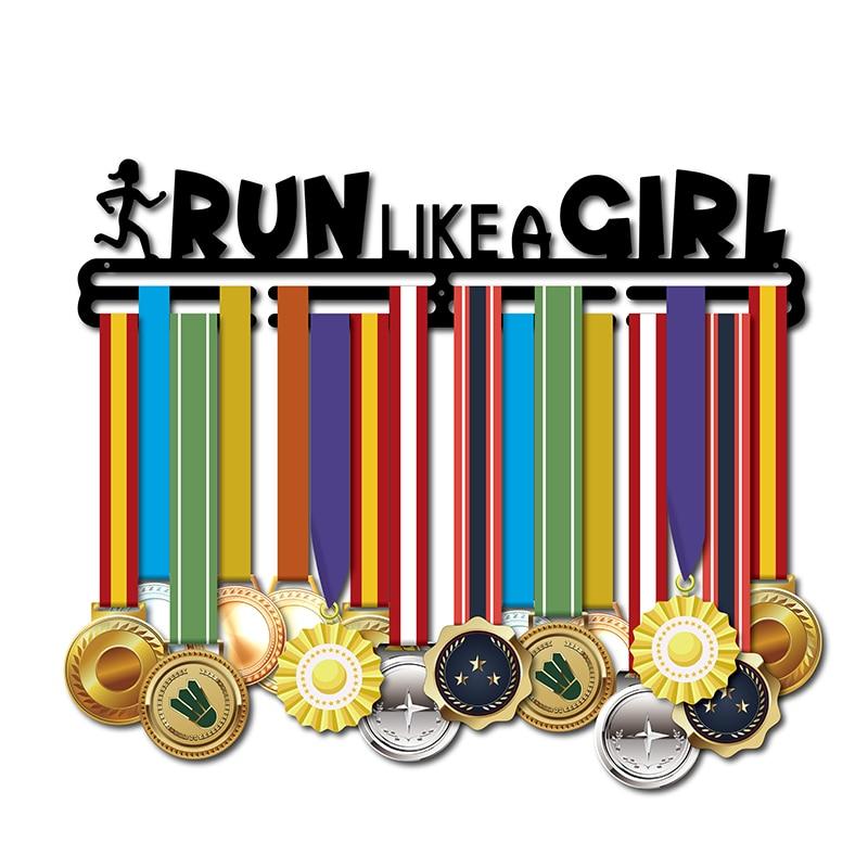 46 سنتيمتر L ميدالية شماعات لفتاة تشغيل مثل فتاة ميدالية حامل الرياضة ميدالية عرض رف ل عداء فتاة عقد 32 + ميداليات