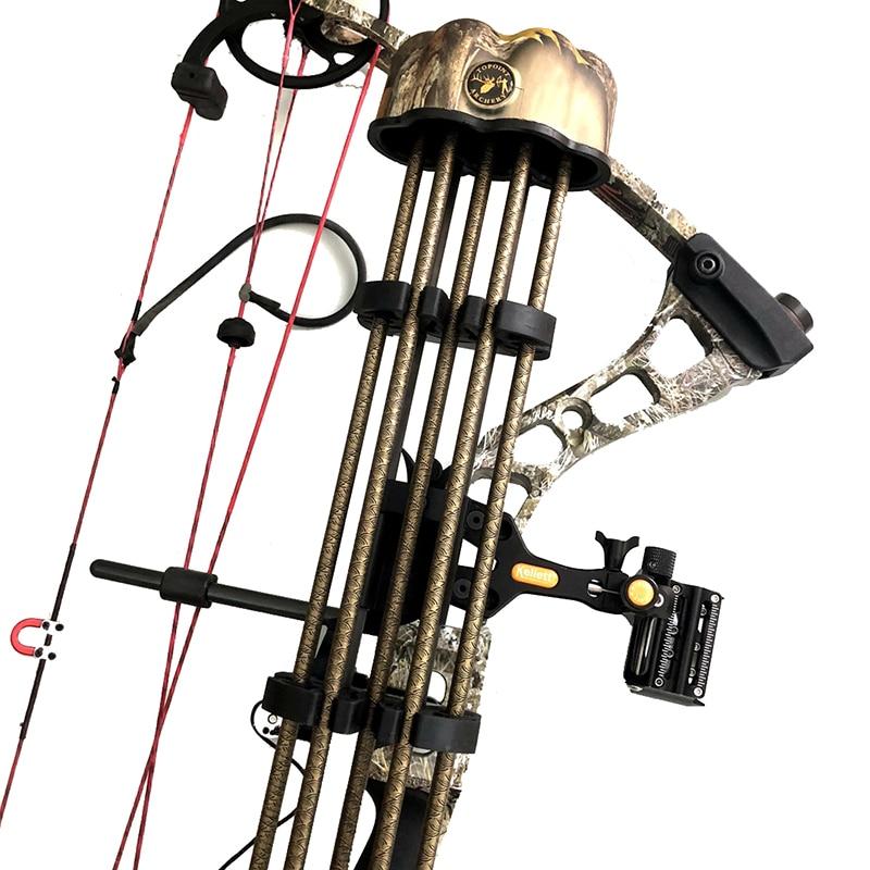 Колчан для стрельбы из лука, 5 стрел, трубка, составной лук, стрела, держатель для охоты на открытом воздухе, аксессуары для стрельбы, колчан д...