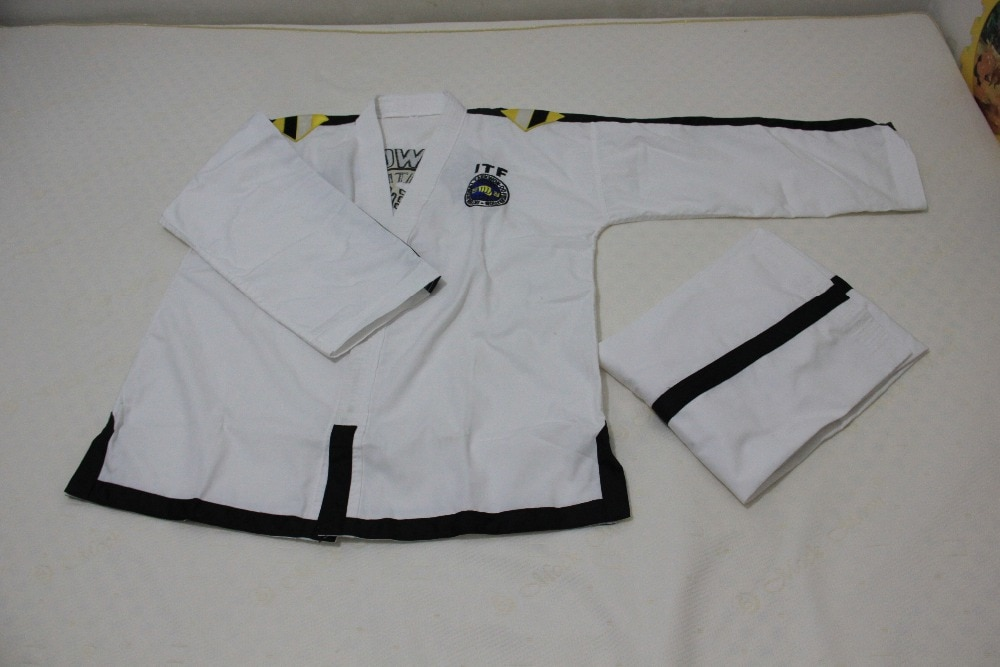 ITF-ملابس Taekwondo مطرزة بالكامل ، عادي ، قياسي ، 1-3 ، زي مدرب doboks ، 4-6 ، بالجملة