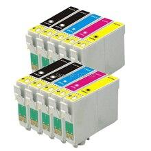 10x T0891/T0711 T0715 XL cartouche dencre compatible pour EPSON Stylus SX100 SX105 DX 4000 DX 4050 BX300F BX600FW imprimante