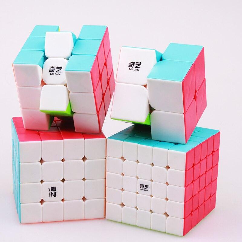 QIYI 2x2 3x3 4x4 5x5 Puzzle Magic  Cube Profissional Speed Cubes Stickerless QiYi Educational Toy For Children