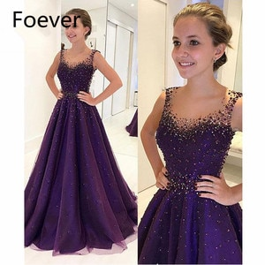 Elegant 2019 A-Line See Though Evening Dresses Long with Beaded Draped Organza Formal Evening Party Dress