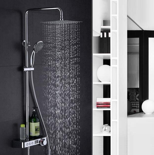 Display digital torneira do chuveiro 10 polegada de chuveiro display digital chuveiro válvula misturadora banheira torneira do chuveiro sistema