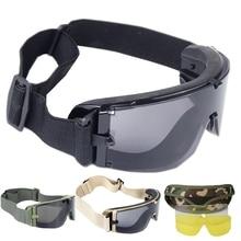 Noir Tan vert militaire tactique lunettes Airsoft lunettes Sports de plein air Paintball lunettes tir lunettes tactiques