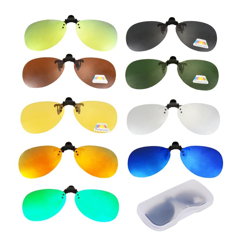Gafas polarizadas de pesca con Clip para gafas de sol, montura para miopía para conducir, gafas deportivas para hombres y mujeres, Clip de gafas para hipermetropía de visión corta