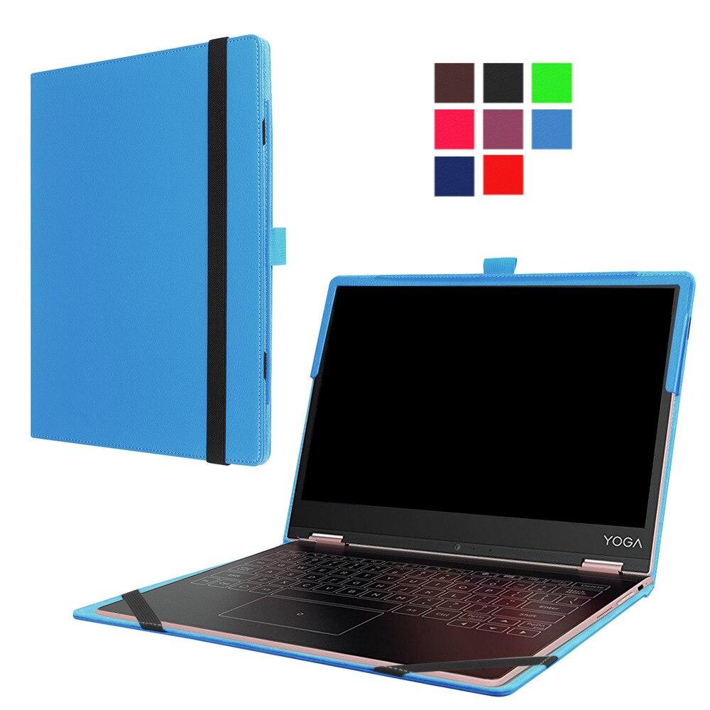Para lenovo yoga 2-in1 a12 tablet ultra slim litchi grain pu couro da pele shell case com teclado station cobrir