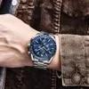 BENYAR – montre de luxe pour hommes à Quartz en acier étanche décontractée 2019