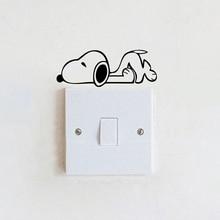 Wall switch sticker decoration - Cartoon dog type light switch stickers DIY+ free shipping