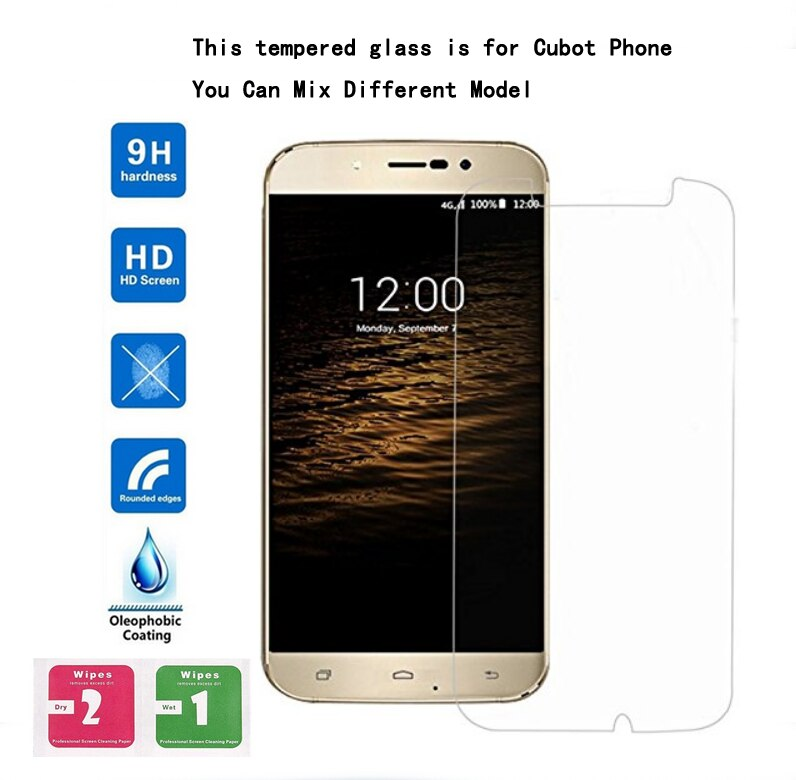 10 Uds templado Premium de vidrio protector de pantalla película para CUBOT A15 C15 J3 Pro dinosaurio eco H3 magia Manito J5 J7 Cheetah 2