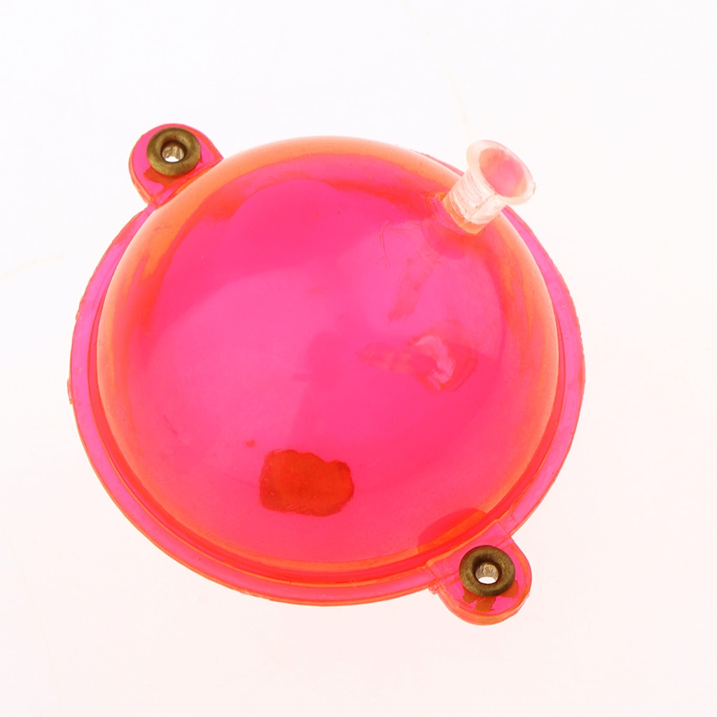 5 unids/set de flotador de pesca ABS bolas de plástico claro Airlock Strike Indicators Red Tackle Accesorios