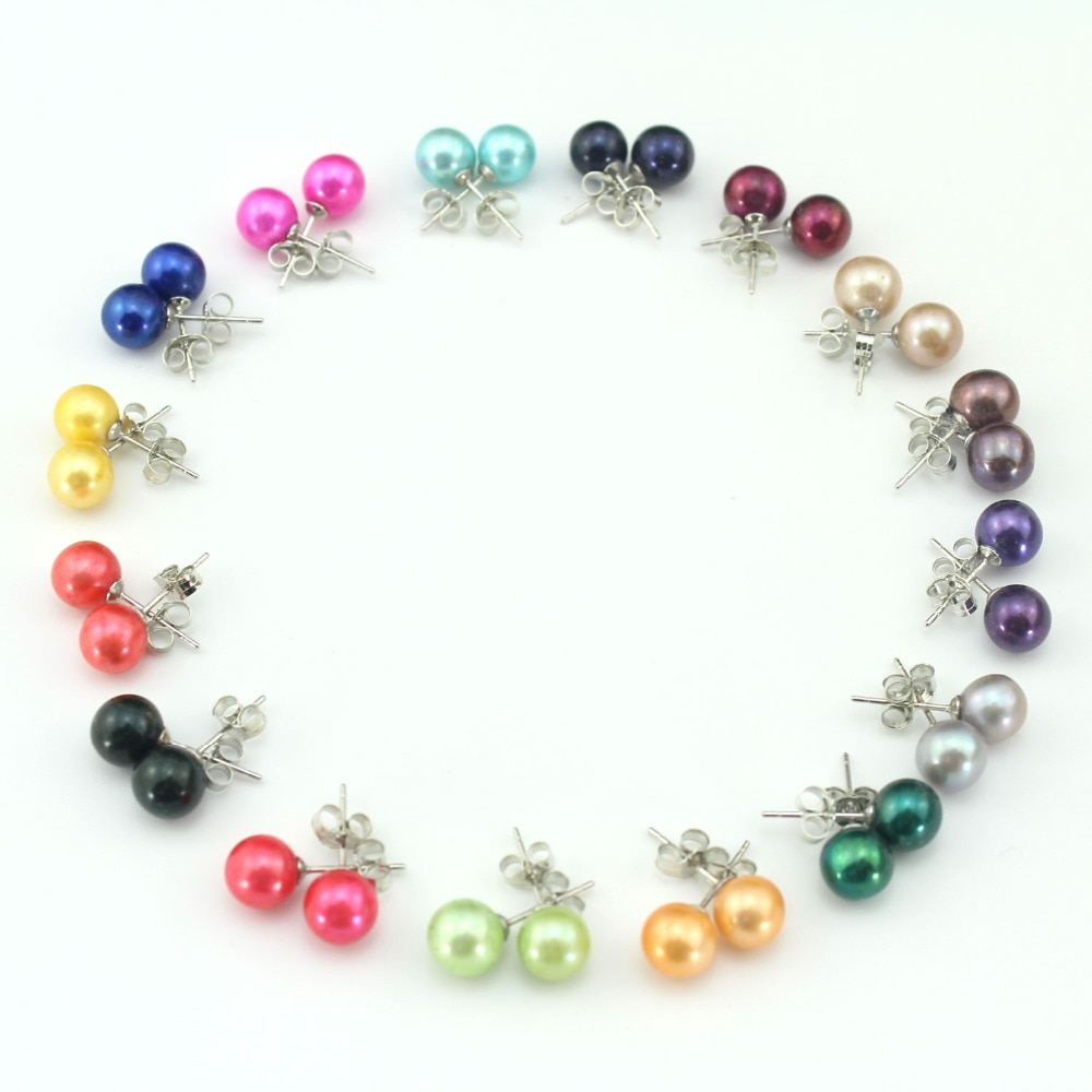 ¡Novedad de 2019! pendientes para mujer de perlas de agua dulce, pendientes de perlas de plata 925, joyería nupcial para mujer, regalos de fiesta E11565