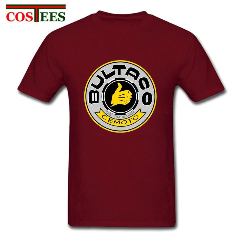 Повседневная Ретро футболка Bultaco Pursang, Мужская футболка с логотипом Bultaco Pursang, homme Spainish, мотоциклетная футболка, супермоторная футболка hombre