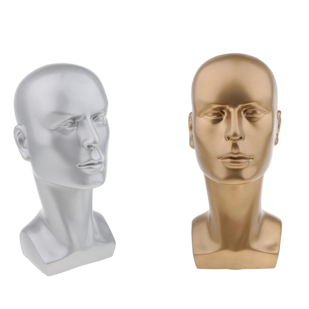 Plástico duradero maniquí masculino cabeza de maniquí sombreros de modelo soporte para peluca gafas de pelo bufanda con auriculares soporte de exhibición